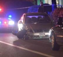Пьяный русский водитель, разогнался до 100 миль в час, двигаясь в противоположном направлении, прямо в объятия полицейской патрульной машины!