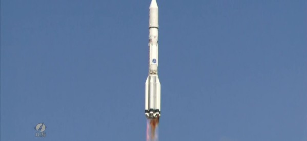 """""""Протон-М"""" с британским спутником успешно стартовал с Байконура. Кадры запуска"""